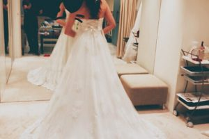 ケリーアンでドレス試着
