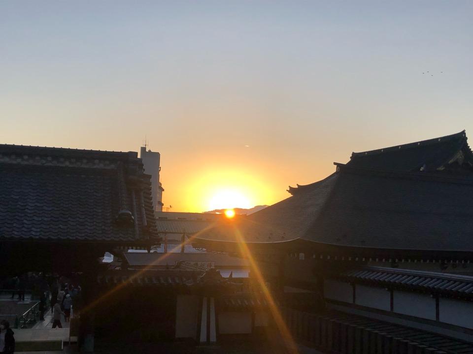 成田山の初日の出