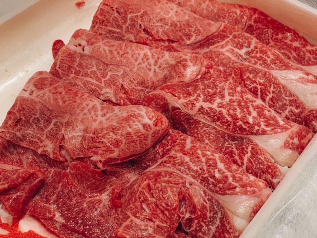 神戸牛の好き焼き肉のフリー写真素材