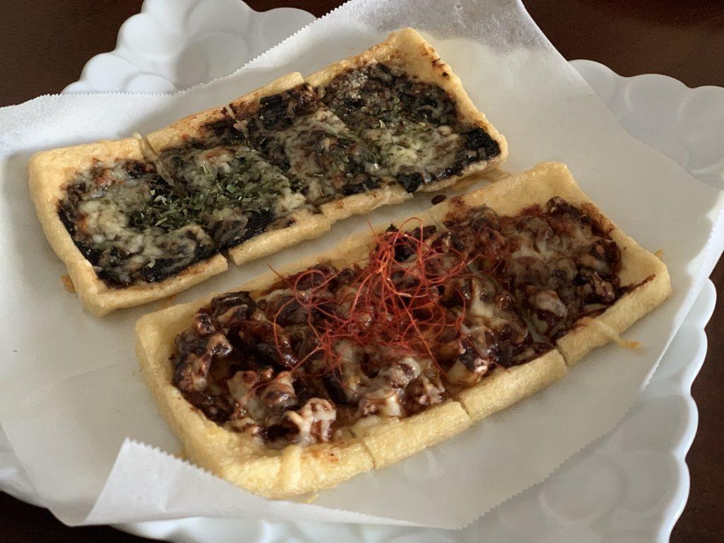 薄揚げのピザ